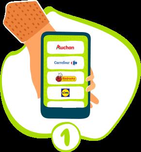 Wybierz supermarket i godzinę dostawy, które najbardziej Ci odpowiadają